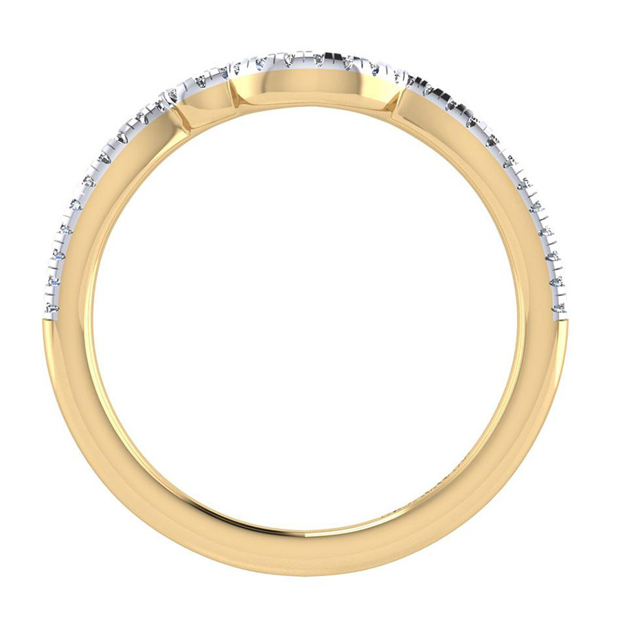 Gabriel 14 Karat Contemporary Wedding Band WB7801Y44JJ Alternative View 1