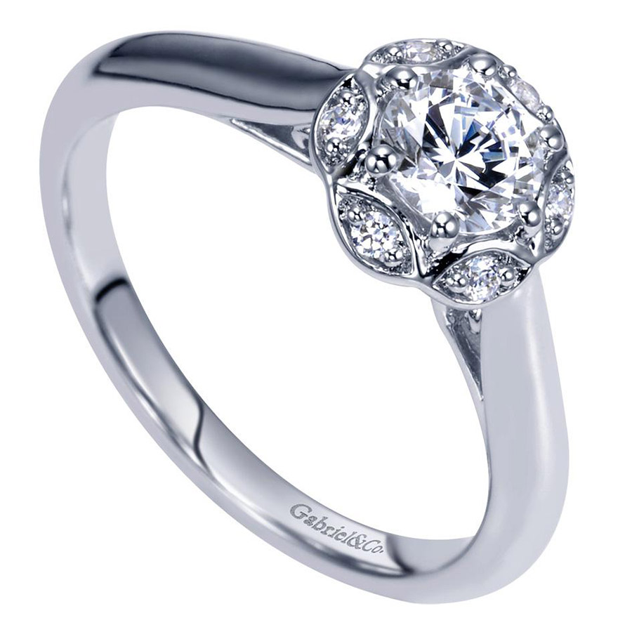 Gabriel 14 Karat Contemporary Engagement Ring ER98585W44JJ Alternative View 2