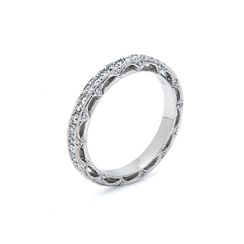 Tacori Platinum Crescent Silhouette Wedding Band HT2511 Alternative View 1