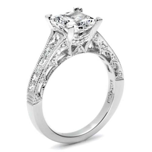 Tacori Platinum Crescent Engagement Ring HT2510PR12X Alternative View 3