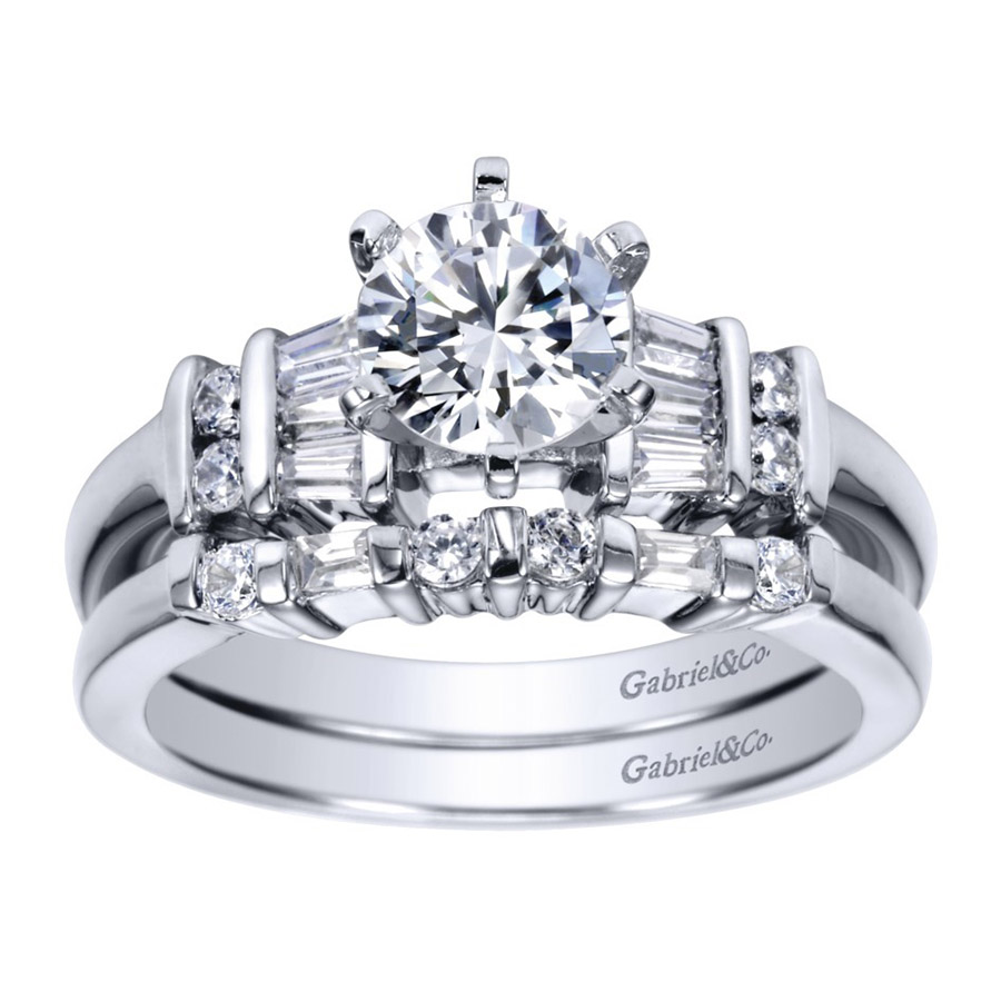 Gabriel 14 Karat Contemporary Engagement Ring ER2662PT3JJ Alternative View 3