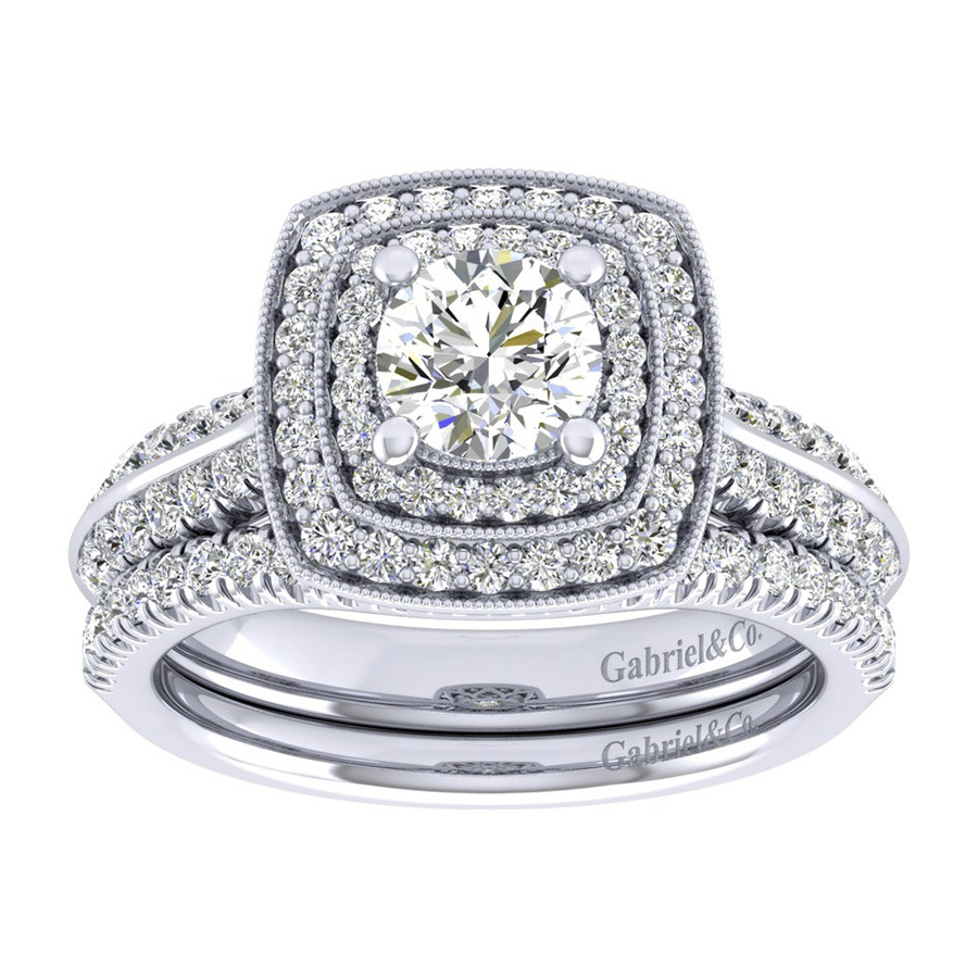 Gabriel 14 Karat Perfect Match Engagement Ring ER002B3AGW44JJ Alternative View 3