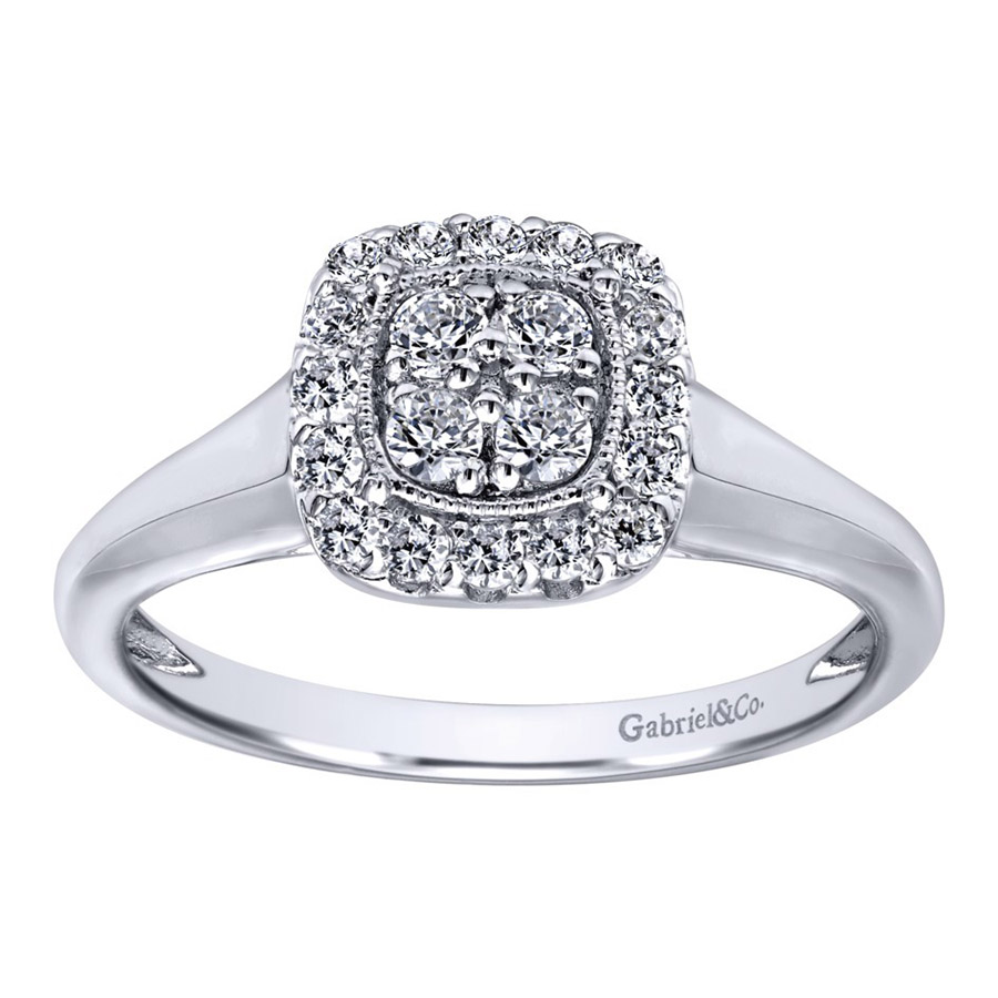 Gabriel 14 Karat Contemporary Engagement Ring ER10776W44JJ Alternative View 4