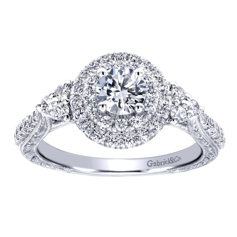 Gabriel 14 Karat Victorian Engagement Ring ER910087W44JJ Alternative View 4