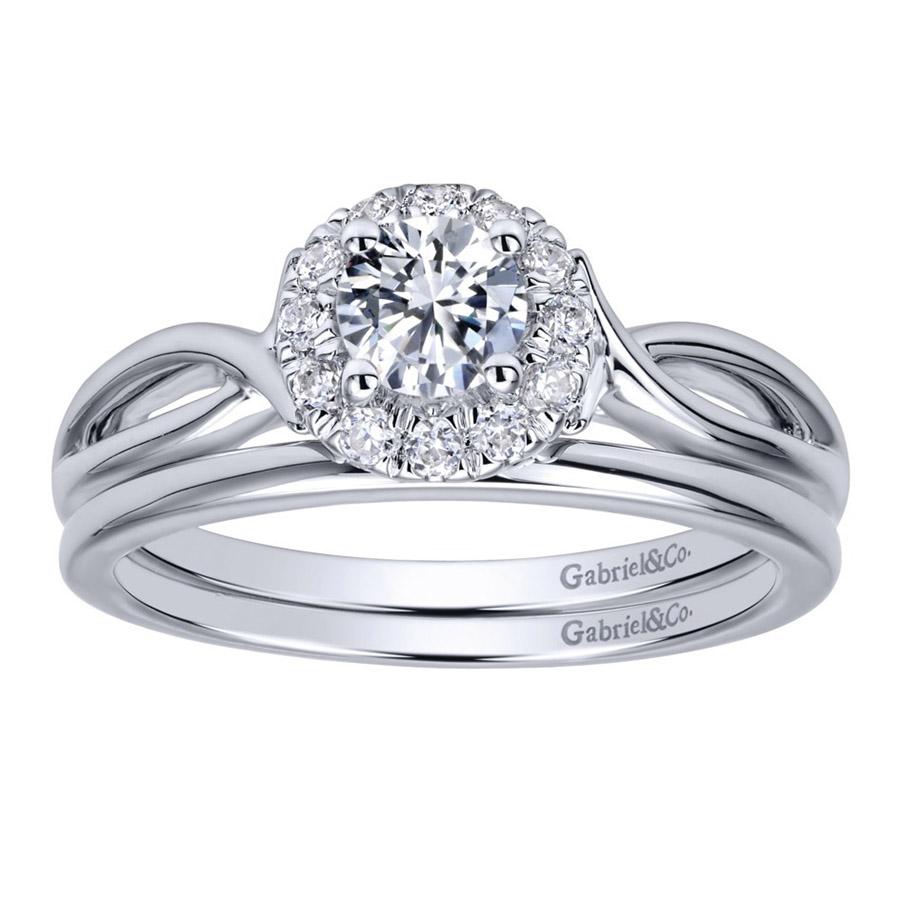 Gabriel 14 Karat Contemporary Wedding Band WB911778R0W4JJJ Alternative View 3