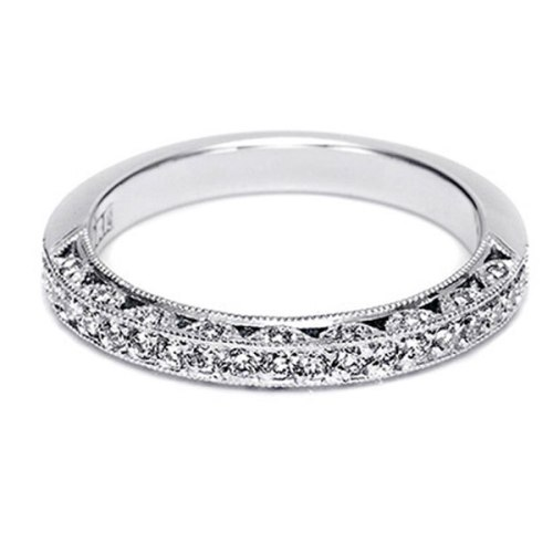 Tacori 18 Karat Crescent Silhouette Wedding Band HT2259B12