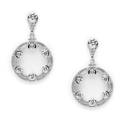 tacori diamond earrings platinum fine jewelry fe593 tq