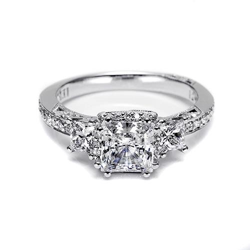 Tacori Platinum Dantela Engagement Ring 2622prlgp Tq