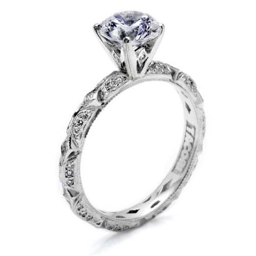 Tacori Hand Engraved Platinum Engagement Ring HT2378 Alternative View 1