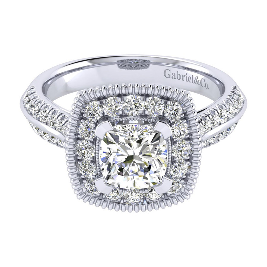 Gabriel 14 Karat Perfect Match Engagement Ring ER002C6AKW44JJ