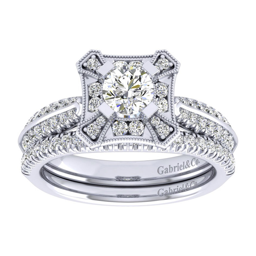 Gabriel 14 Karat Perfect Match Engagement Ring ER002A2AEW44JJ Alternative View 3