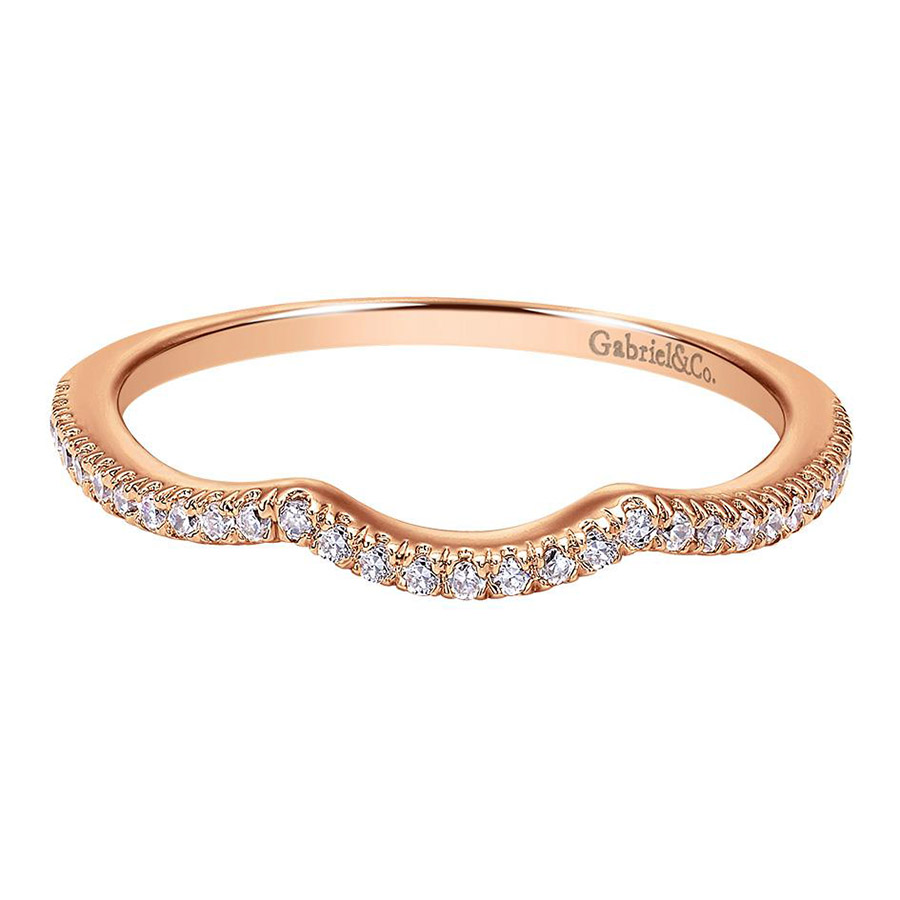 Gabriel 14 Karat Contemporary Wedding Band WB7806K44JJ