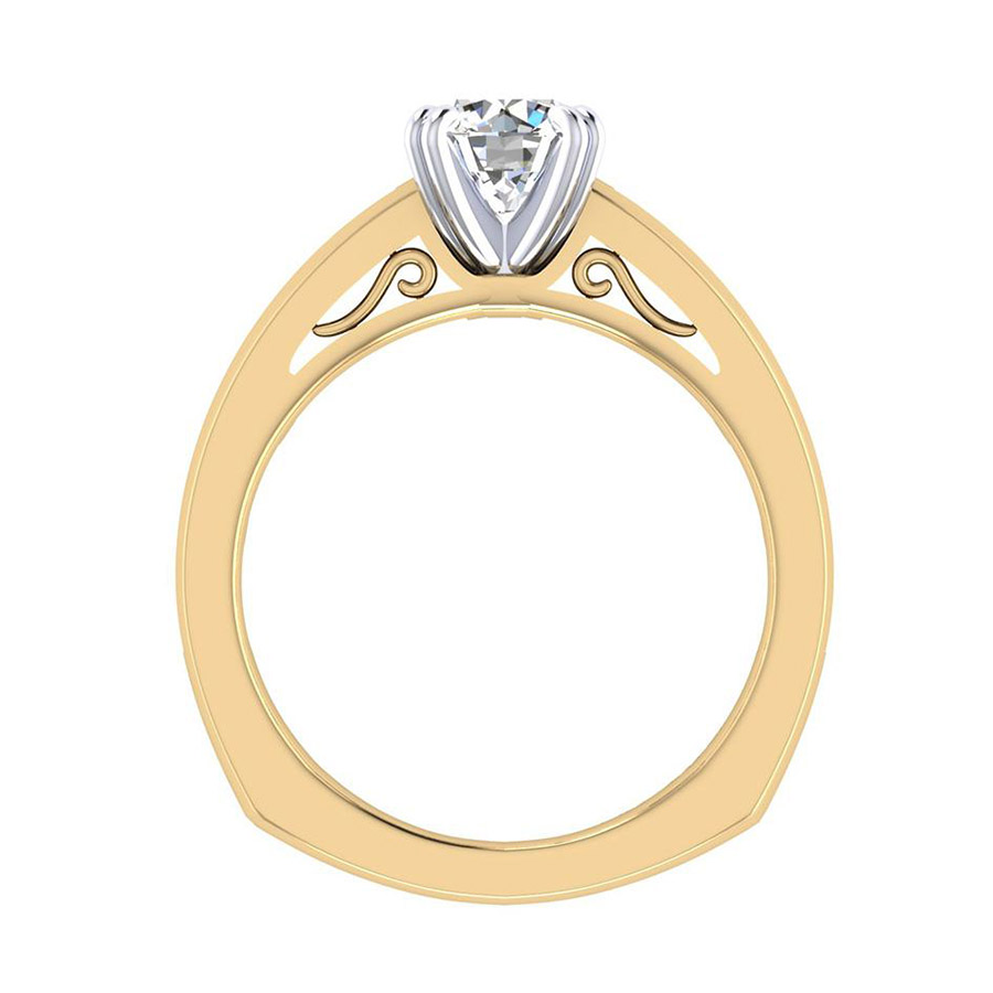 Gabriel 14 Karat Contemporary Engagement Ring ER6655M44JJ Alternative View 1