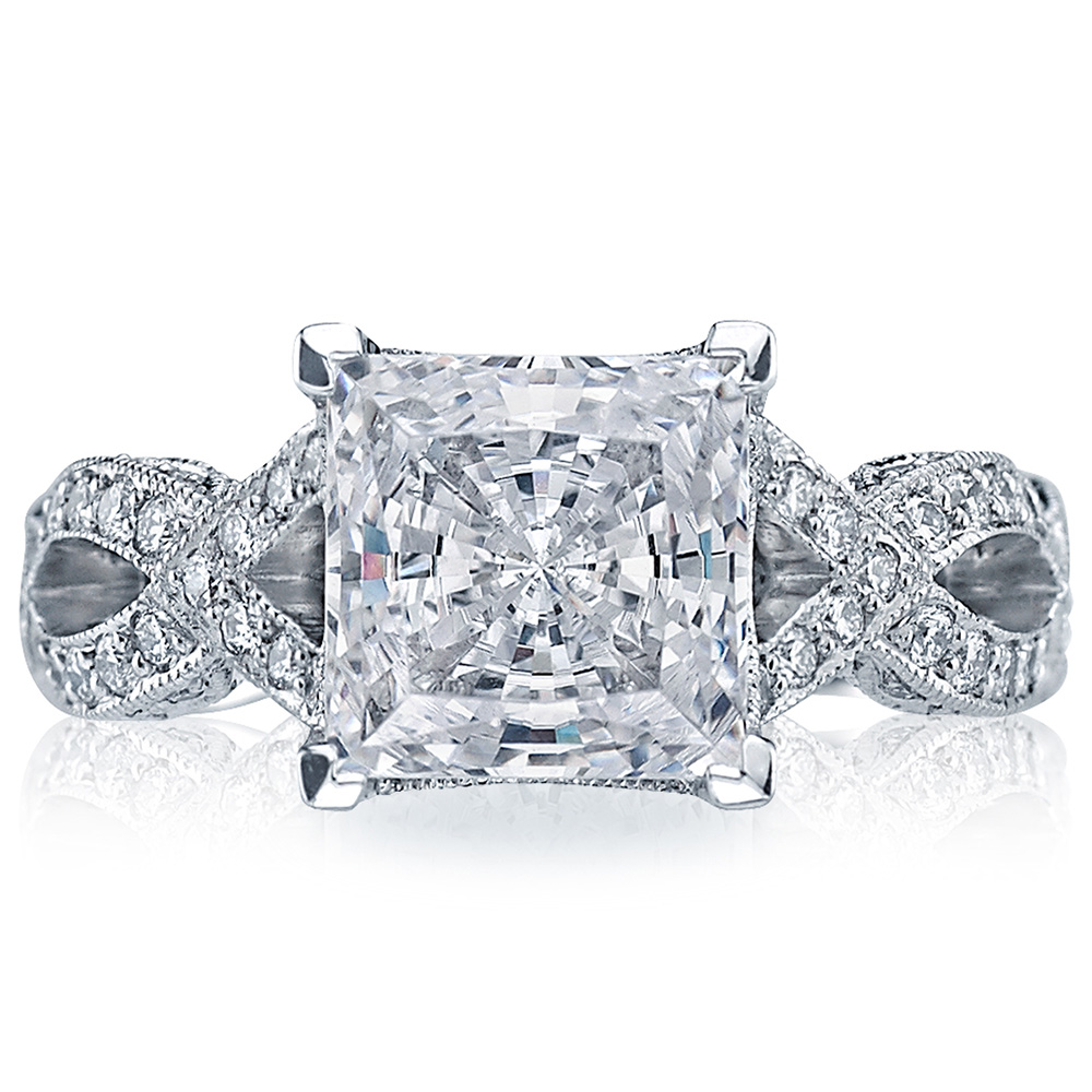 HT2606PR85 Platinum Tacori RoyalT Engagement Ring