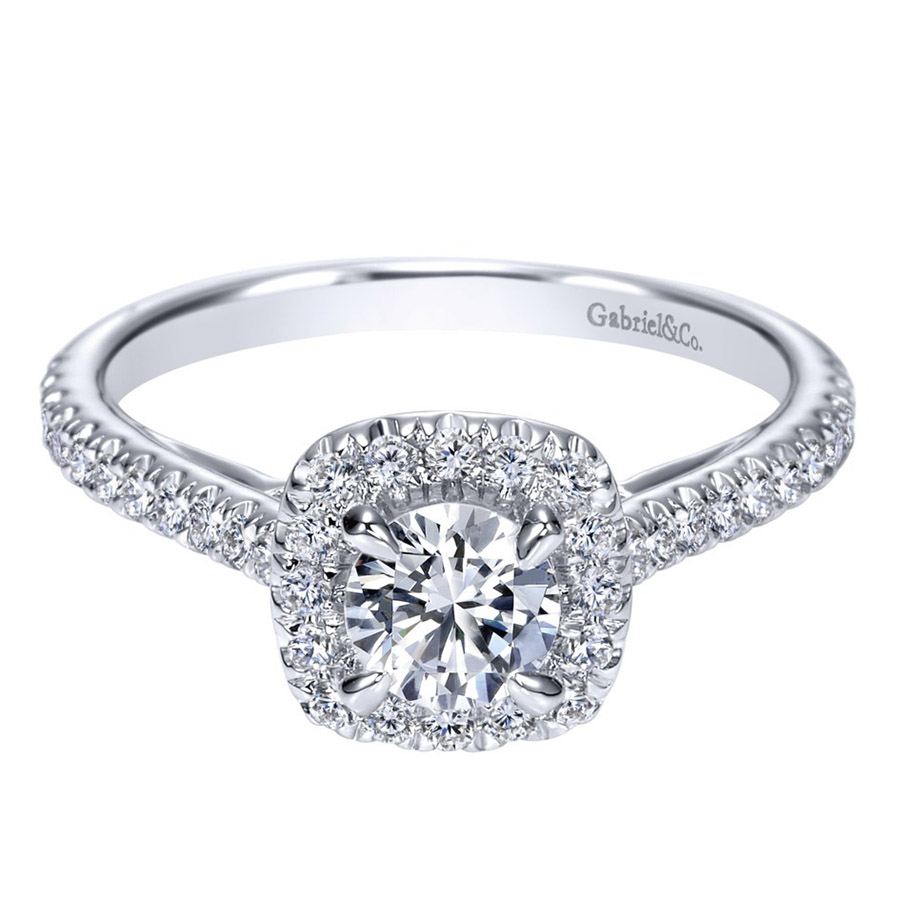 Gabriel 14 Karat Contemporary Engagement Ring ER98520W44JJ