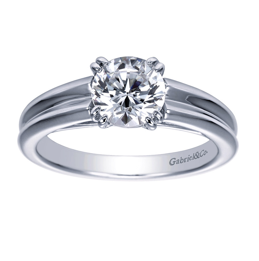 Gabriel Platinum Contemporary Engagement Ring ER8135PTJJJ Alternative View 4