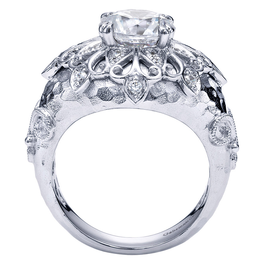 Gabriel 18 Karat Contemporary Engagement Ring ER8760W83JJ Alternative View 1