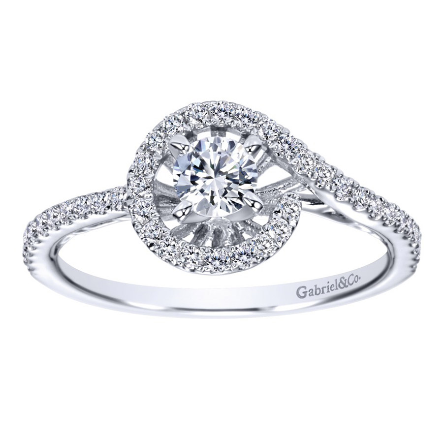 Gabriel 14 Karat Contemporary Engagement Ring ER97718W44JJ Alternative View 4