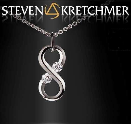 Kretchmer Platinum Infinity Tension Set Pendant Alternative View 1