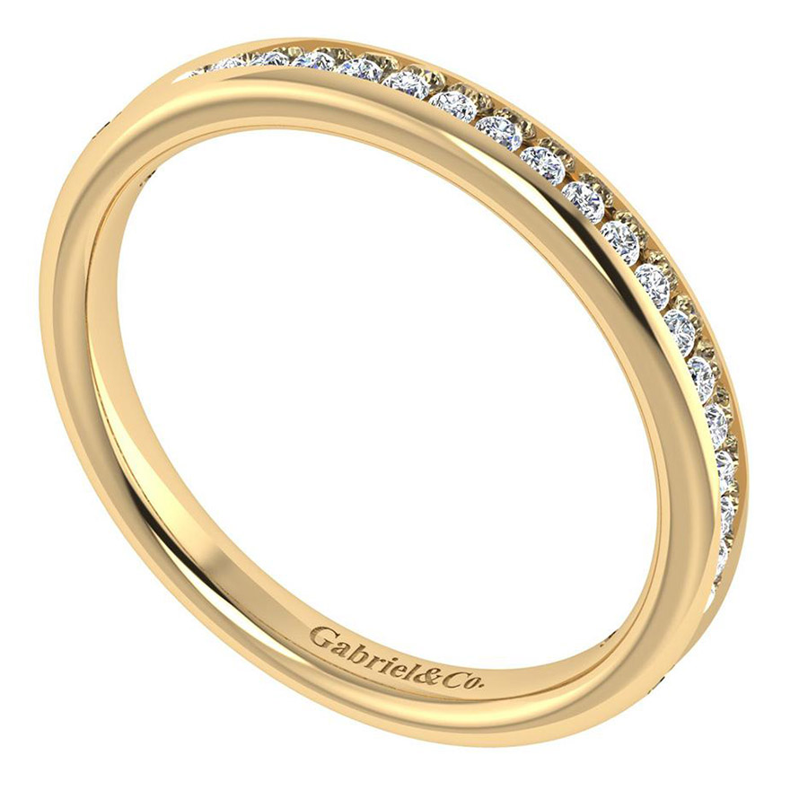 Gabriel 14 Karat Contemporary Wedding Band WB7443Y44JJ Alternative View 2