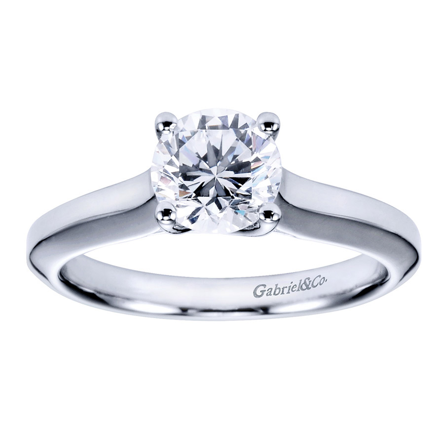 Gabriel Platinum Contemporary Engagement Ring ER6611PTJJJ Alternative View 4