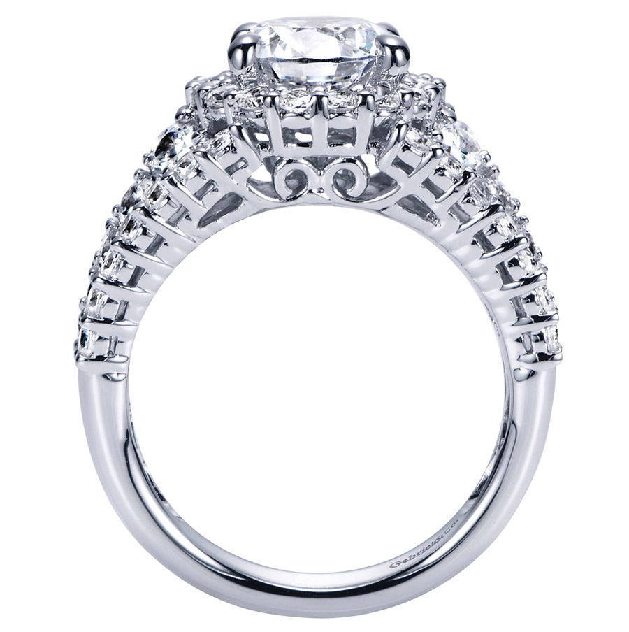 Gabriel 14 Karat Contemporary Engagement Ring ER8446W83JJ Alternative View 1