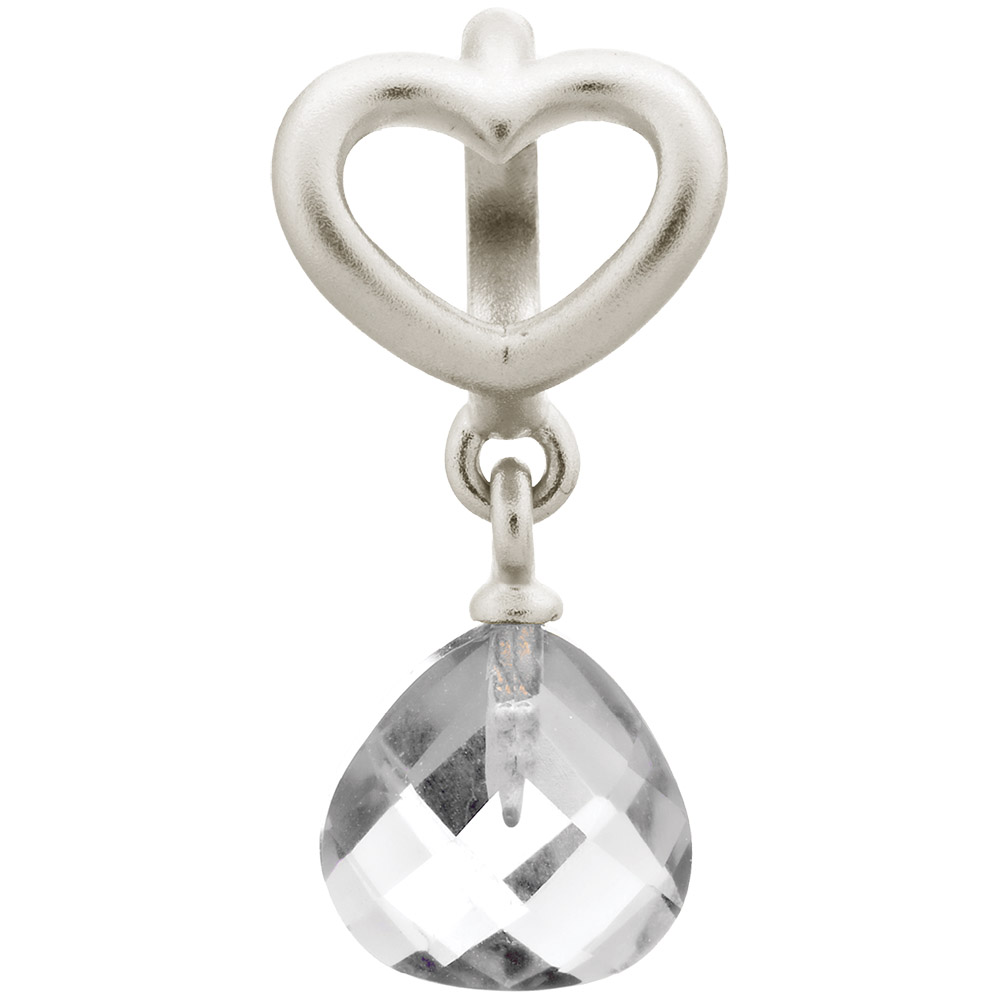 Endless Jewelry Clear Heart Grip Drop Sterling Silver Charm 43273 1