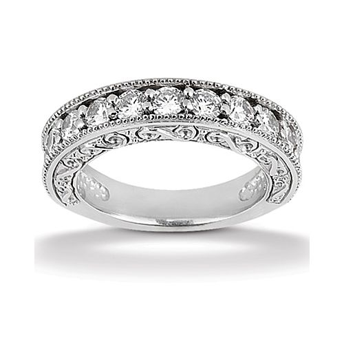 Diamond Antique Band 18 Karat Taryn Collection TQD B-0005