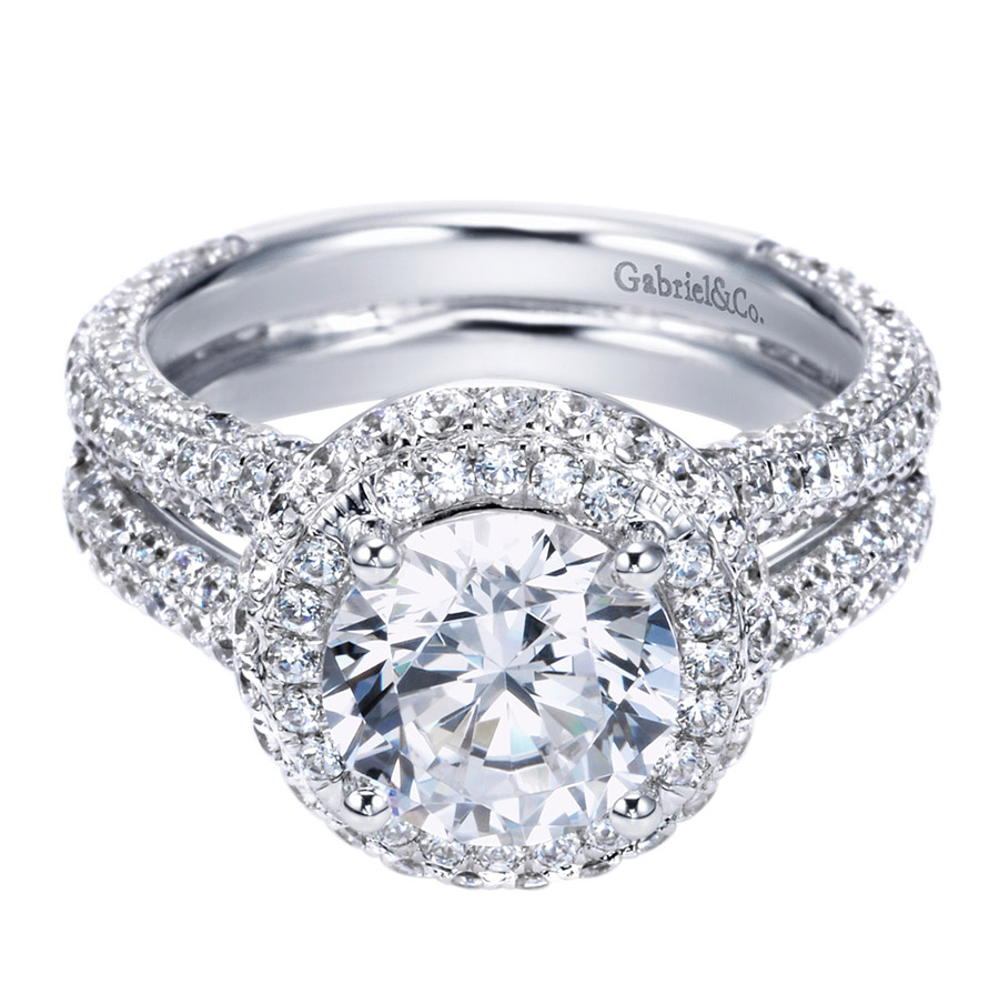 Gabriel 18 Karat Contemporary Engagement Ring ER8327W83JJ