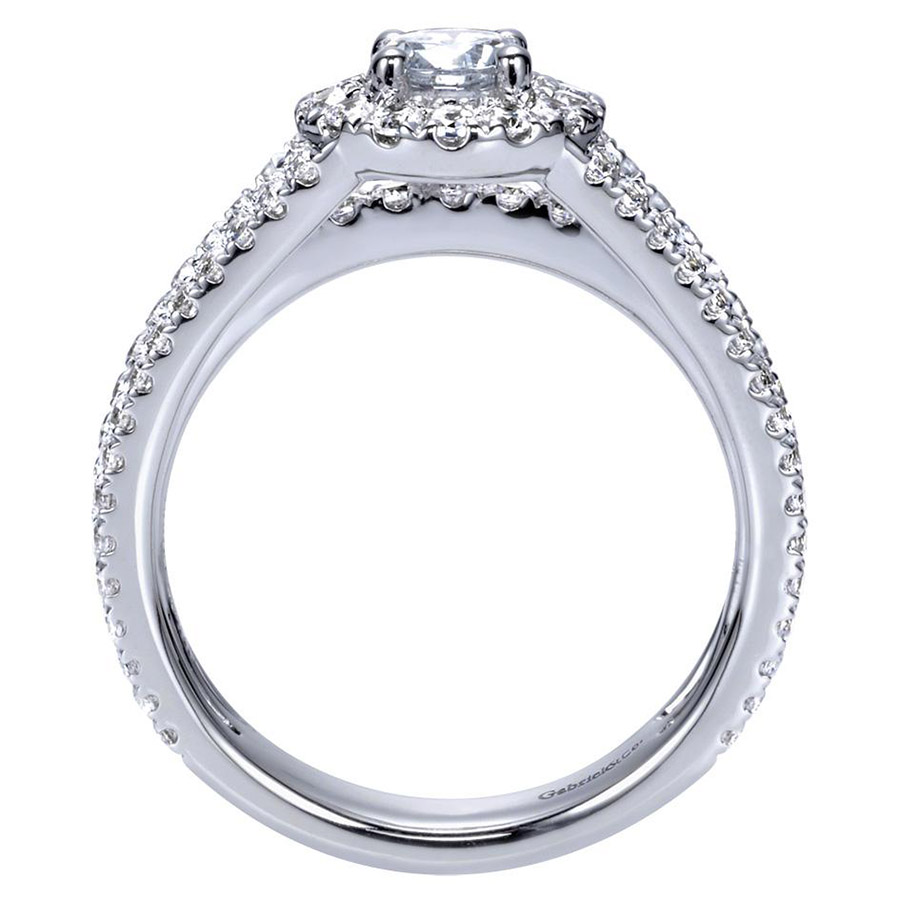 Gabriel 14 Karat Contemporary Engagement Ring ER98535W44JJ Alternative View 1