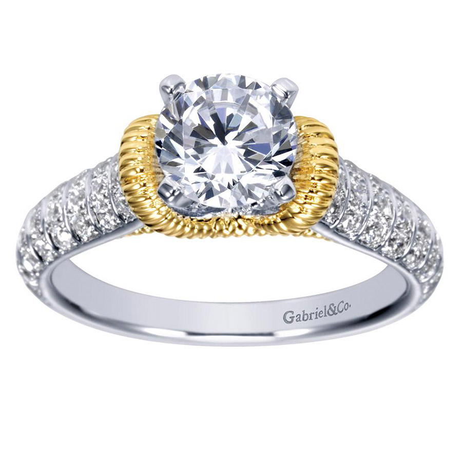 Gabriel 14 Karat Contemporary Engagement Ring ER9533M44JJ Alternative View 4