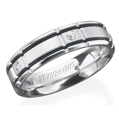 Verragio Palladium In-Gauge Diamond Wedding Band RUD-6964