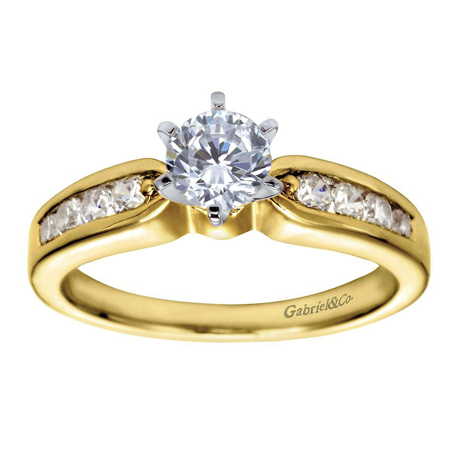 Gabriel 14 Karat Contemporary Engagement Ring ER2294M44JJ Alternative View 4