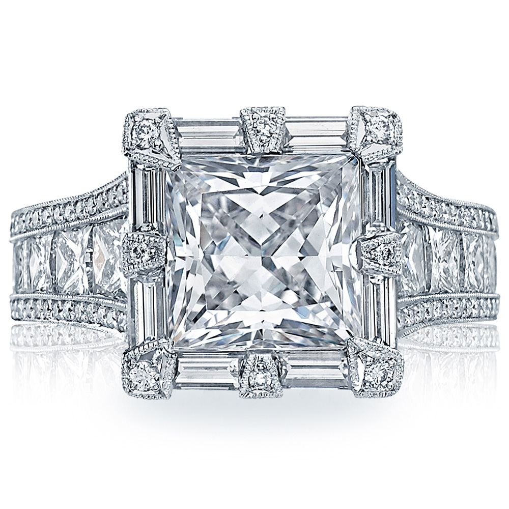 HT2601PR85 Platinum Tacori RoyalT Engagement Ring
