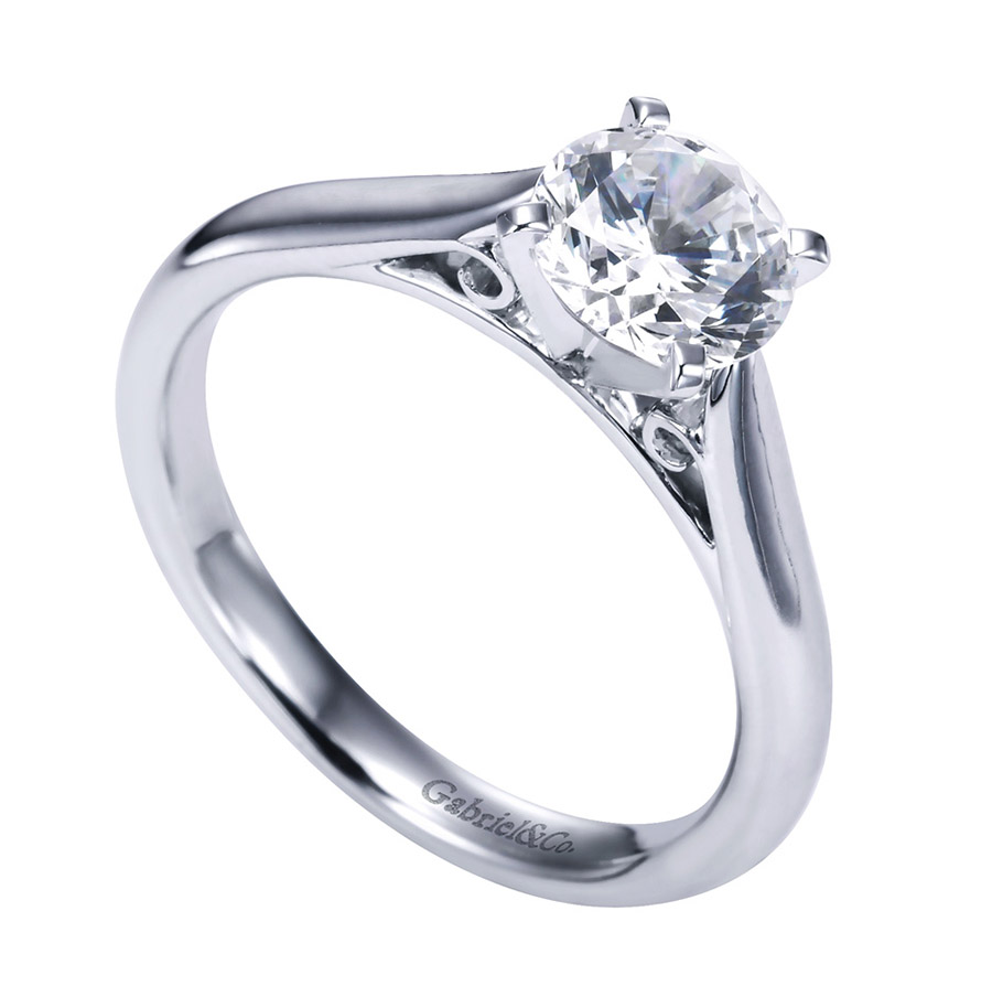 Gabriel Platinum Contemporary Engagement Ring ER6672PTJJJ Alternative View 2