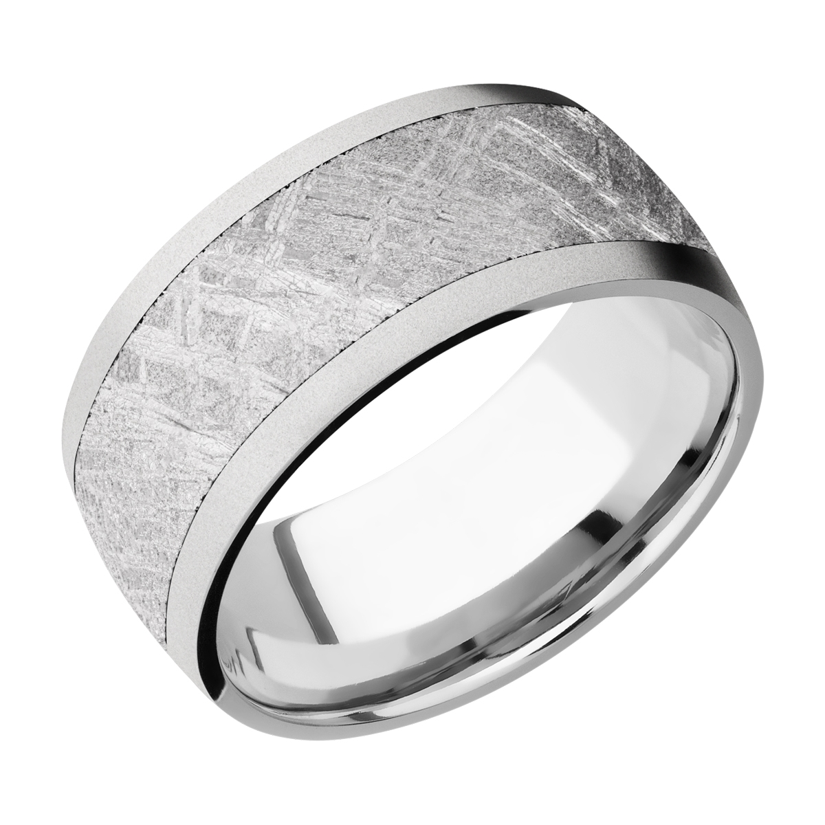 Lashbrook CC10D17/METEORITE Cobalt Chrome Wedding Ring or Band