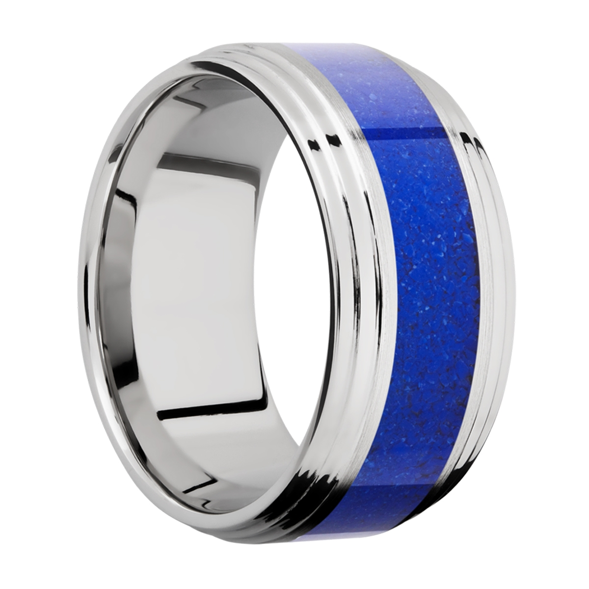 Lashbrook CC10F2S15/MOSAIC Cobalt Chrome Wedding Ring or Band Alternative View 1