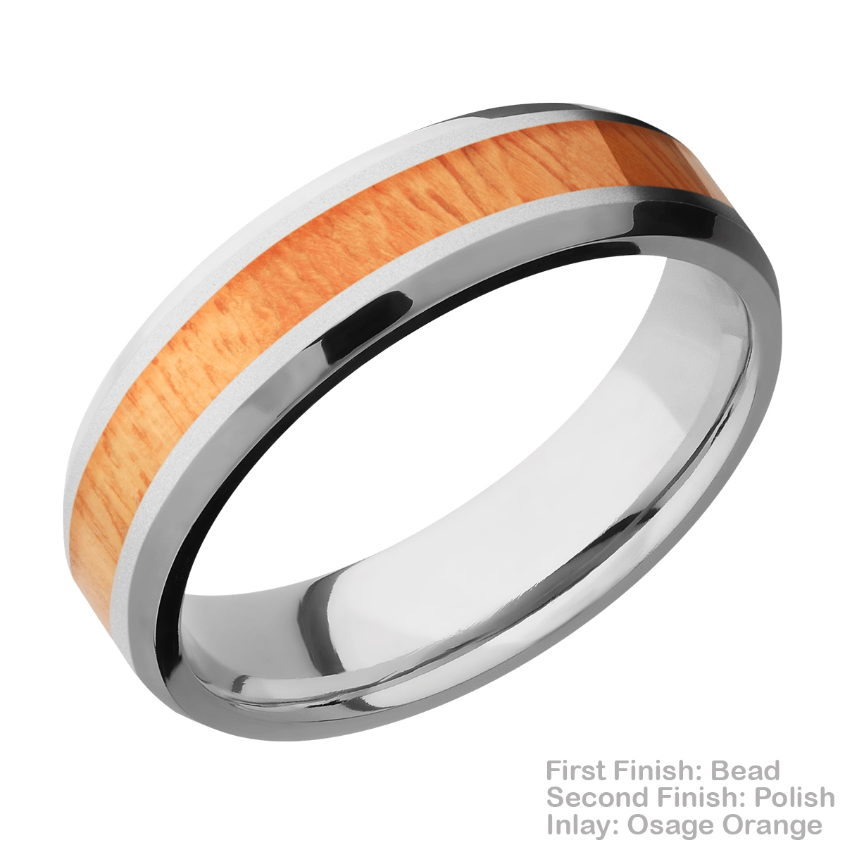 Lashbrook CC6B13(NS)/HARDWOOD Cobalt Chrome Wedding Ring or Band Alternative View 5