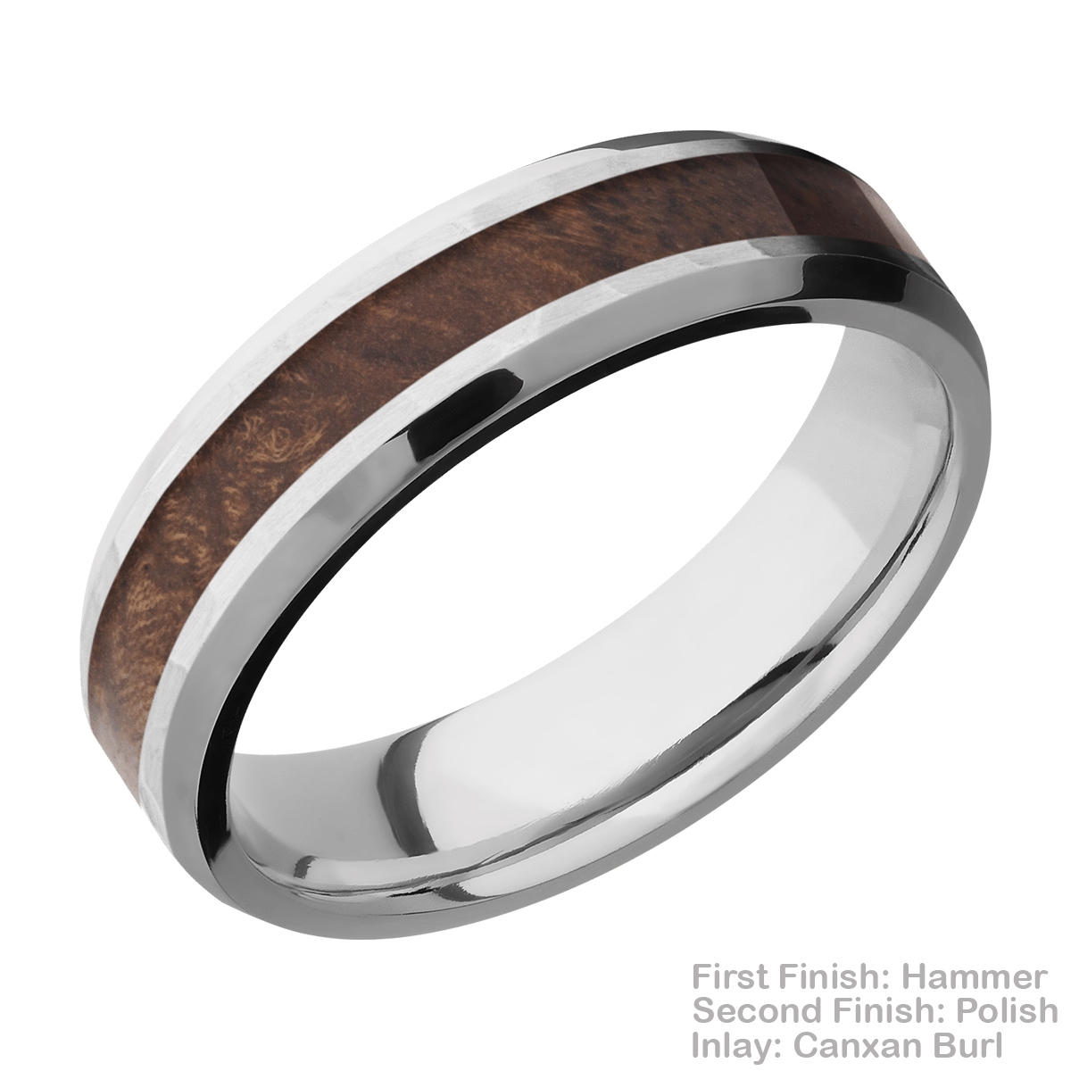 Lashbrook CC6B13(NS)/HARDWOOD Cobalt Chrome Wedding Ring or Band Alternative View 7