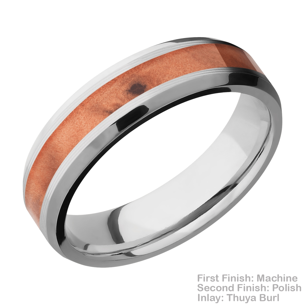 Lashbrook CC6B13(NS)/HARDWOOD Cobalt Chrome Wedding Ring or Band Alternative View 8