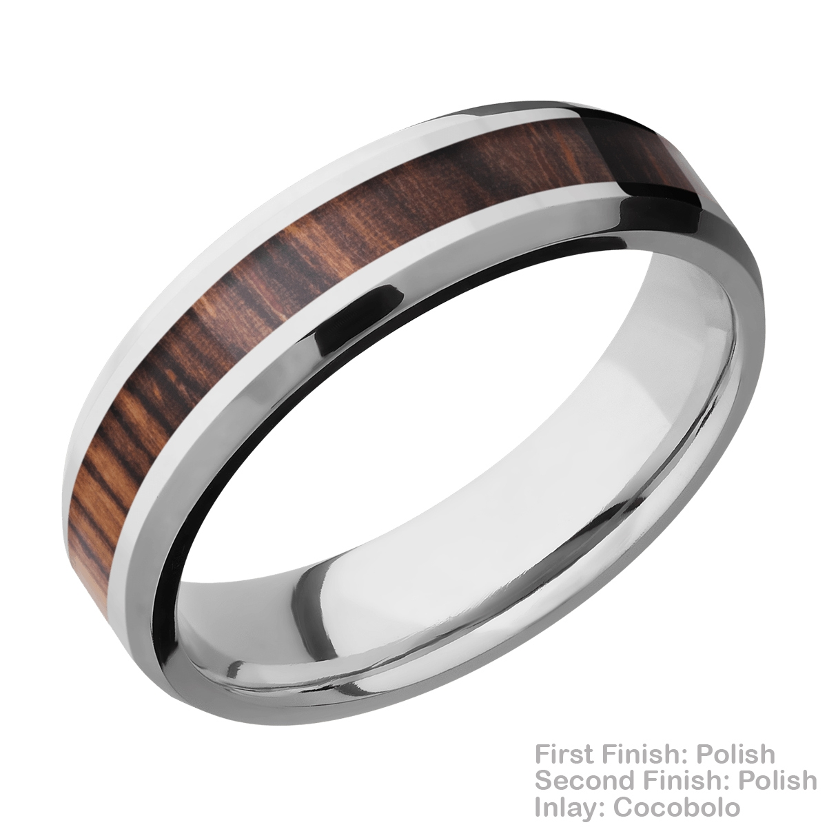 Lashbrook CC6B13(NS)/HARDWOOD Cobalt Chrome Wedding Ring or Band Alternative View 11