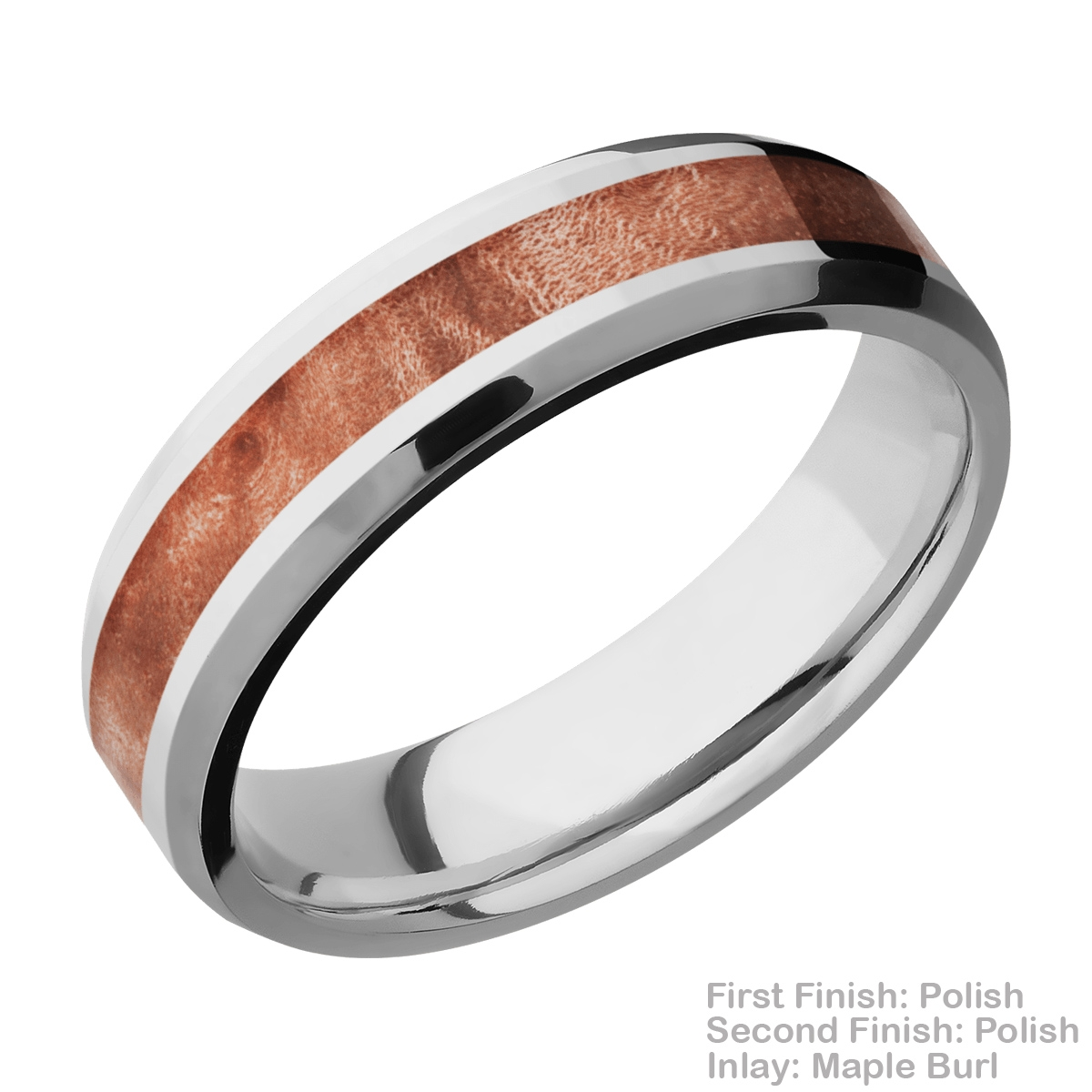 Lashbrook CC6B13(NS)/HARDWOOD Cobalt Chrome Wedding Ring or Band Alternative View 9