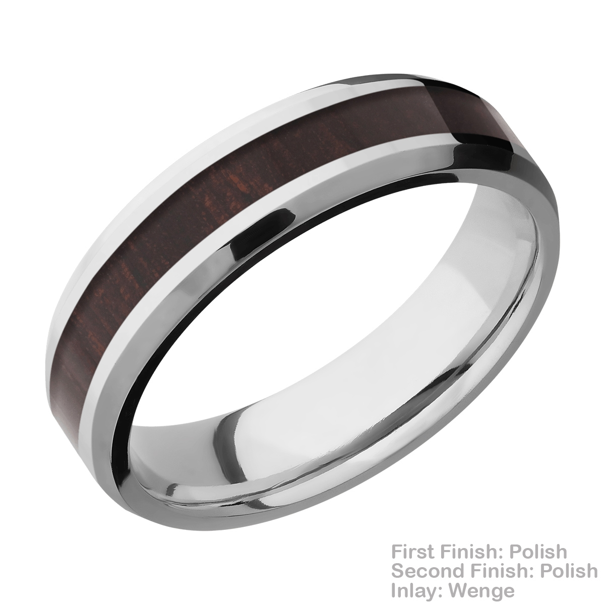 Lashbrook CC6B13(NS)/HARDWOOD Cobalt Chrome Wedding Ring or Band Alternative View 13
