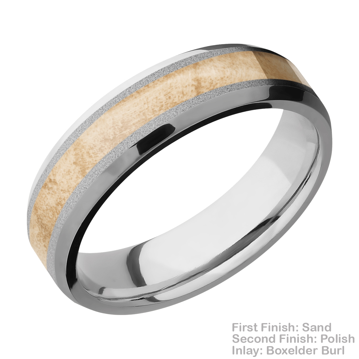 Lashbrook CC6B13(NS)/HARDWOOD Cobalt Chrome Wedding Ring or Band Alternative View 6
