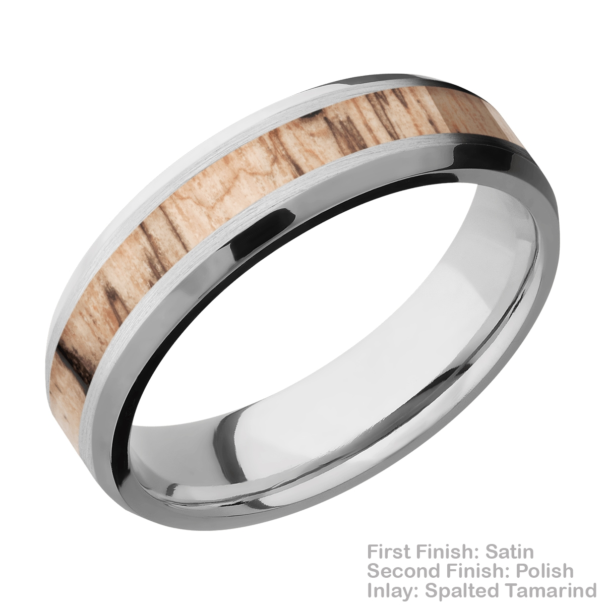 Lashbrook CC6B13(NS)/HARDWOOD Cobalt Chrome Wedding Ring or Band Alternative View 3