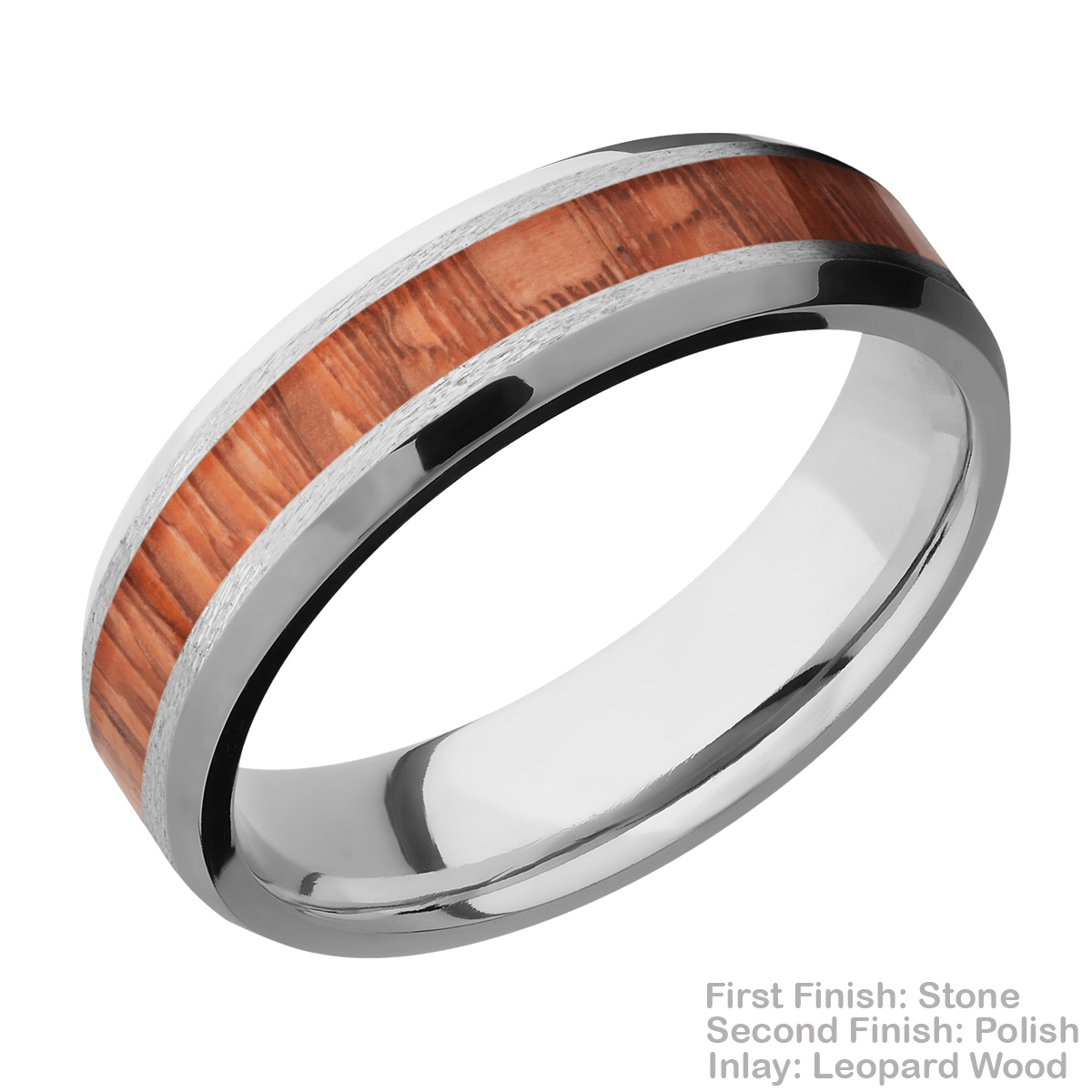 Lashbrook CC6B13(NS)/HARDWOOD Cobalt Chrome Wedding Ring or Band Alternative View 4
