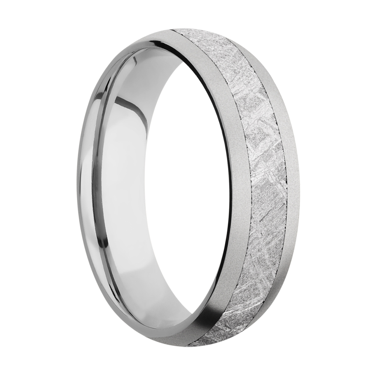 Lashbrook CC6D13/METEORITE Cobalt Chrome Wedding Ring or Band Alternative View 1