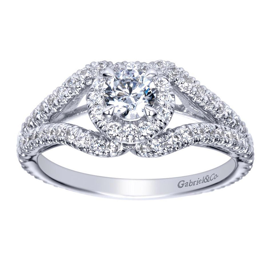 Gabriel 14 Karat Contemporary Engagement Ring ER98506W44JJ Alternative View 4