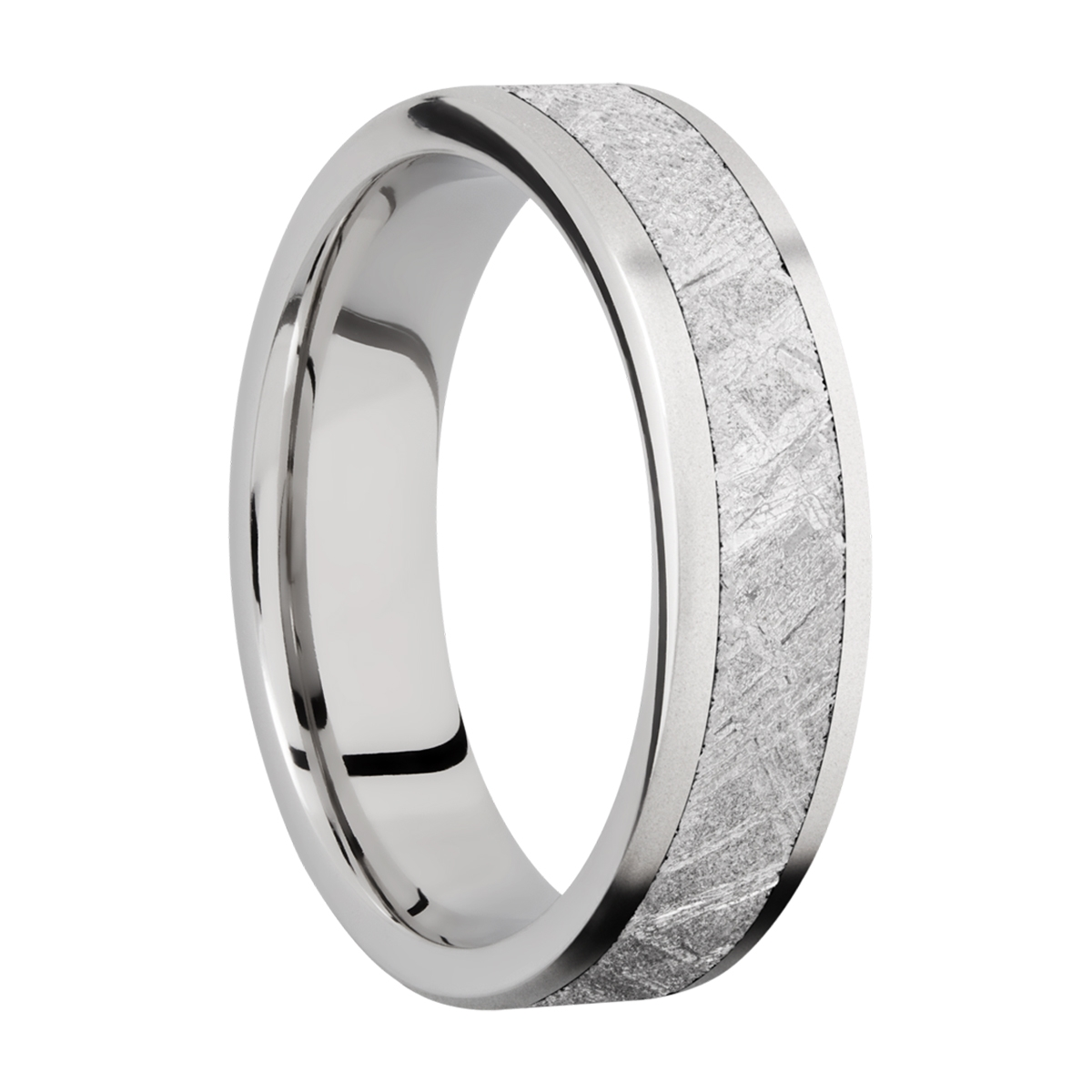 Lashbrook CC6F14/METEORITE Cobalt Chrome Wedding Ring or Band Alternative View 1