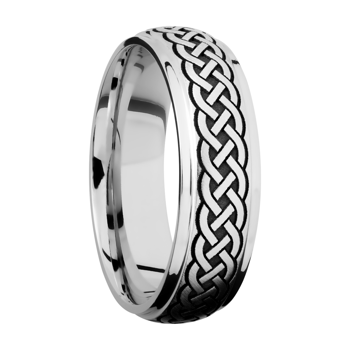 Lashbrook CC7DGE/LCVCELTIC9 ANGLE Cobalt Chrome Wedding Ring or Band Alternative View 1